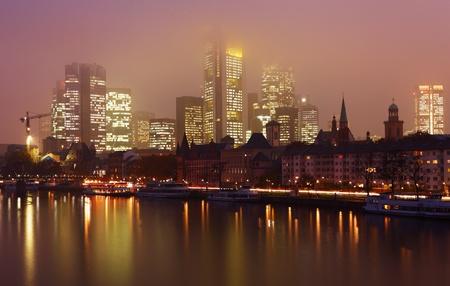 skyline frankfurt am main, germany