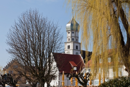 Wasserburg at the lake constance germany with church st georg Stock Photo - 13874077