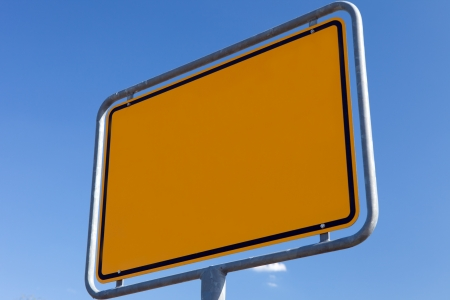 ortsschild: Texture Yellow - road sign