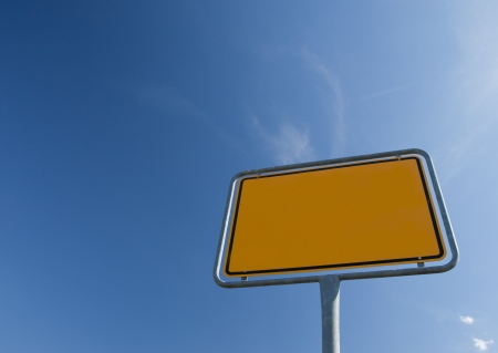 ortsschild: Texture yellow - roed sign