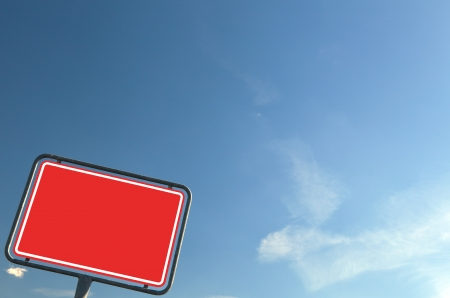 ortsschild: Texture red - roed sign Stock Photo
