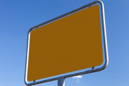 ortsschild: Texture brown - road sign