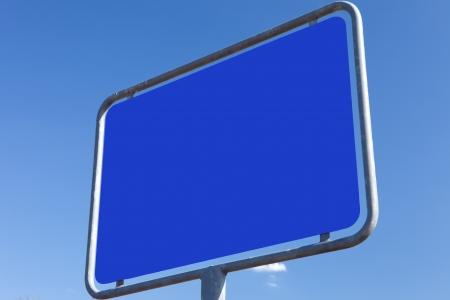incommunicado: road sign - texture - blue Stock Photo