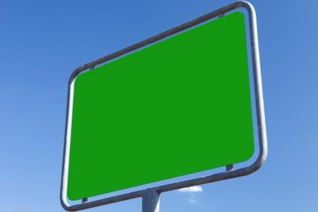 incommunicado: texture green - road sign Stock Photo