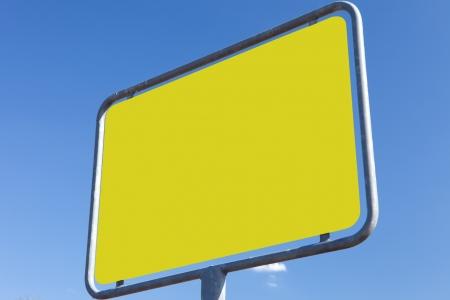 ortsschild: road sign - texture yellow Stock Photo