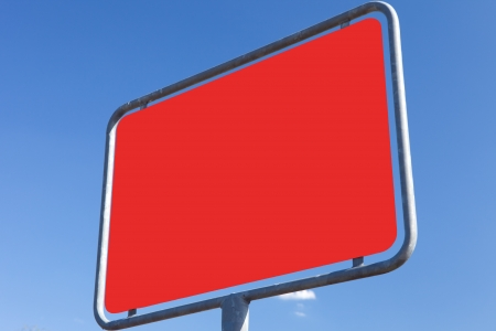 incommunicado: road sign - texture red