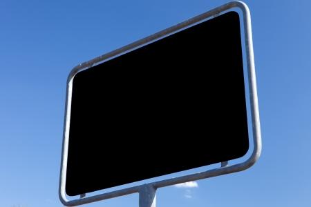 ortsschild: road sign - textur black Stock Photo