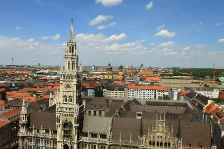 New Town Hall on Marienplatz - Over the rooftops of Munich
