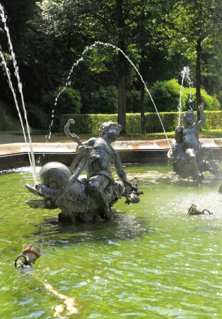 Fountain at the Angel of Peace in Munich photo