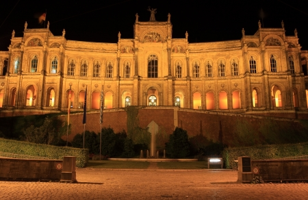 Maximilianeum - Bavarian Parliament at night photo