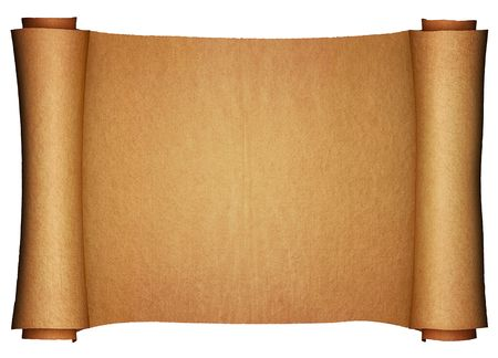 Ancient paper scroll (3d render) Stock Photo