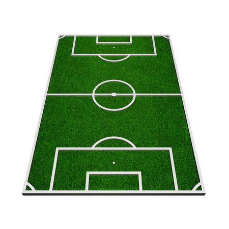 terrain: 3d model of a soccer field (3d render)
