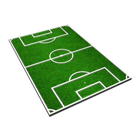 cancha de futbol: Modelo 3D de un campo de f�tbol (3d render)