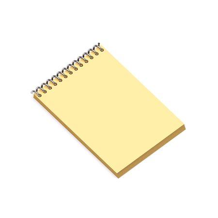 Yellow notebook photo