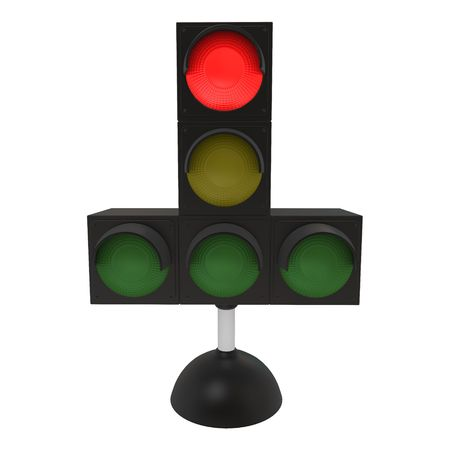 onward: Red traffic light