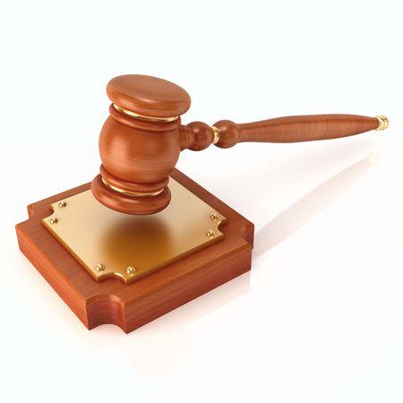 court room: Wood gavel (3d render)  Stock Photo