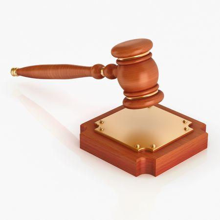 Wood gavel (3d render)  Stock Photo - 5849024