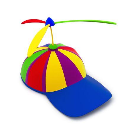 Multicolored baseball cap which props