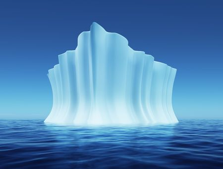 icebox: 3d illustration of Melting Iceberg