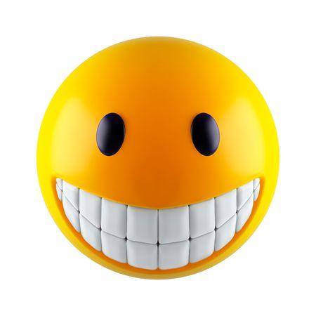 amabilidad: Smiley amarillo enfrentan (procesamiento 3d)