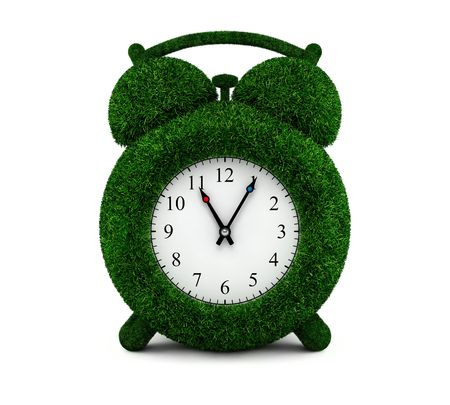 Grassed alarm clock