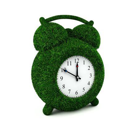 abstract alarm clock: Grassed alarm clock