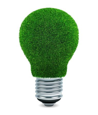 Grassed light bulb  Stock Photo