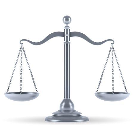 balanza en equilibrio: Escala 3d de plata