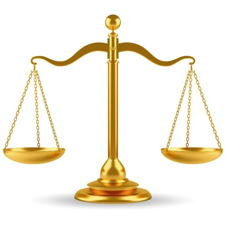 law symbol: Golden scale  Stock Photo