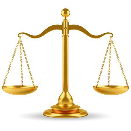 gerechtigkeit: Golden Skala  Lizenzfreie Bilder
