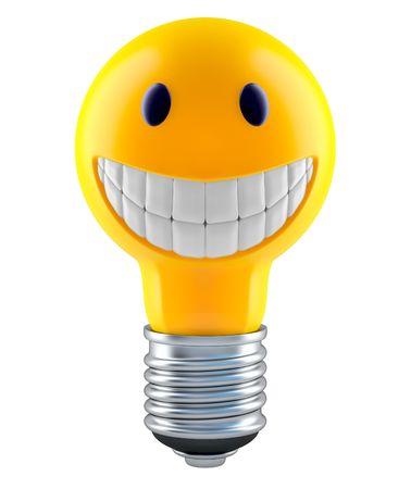 cordialit�: Lampadina in stile faccia di smiley