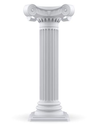 imperium: Één kolom (3d render)  Stockfoto