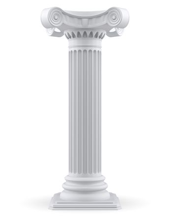 roman pillar: Single column (3d render)  Stock Photo