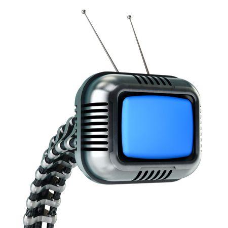 Sci-fi tv in retro style (HQ 3d render)