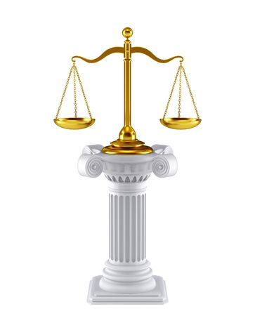 derecho romano: S�mbolo del concepto de escala  Foto de archivo