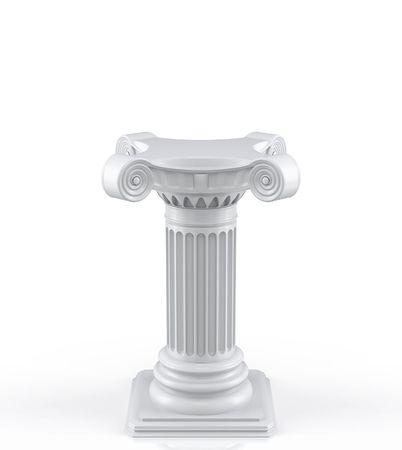 escultura romana: Sencillo pedestal (procesamiento 3d)  Foto de archivo