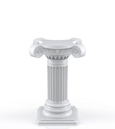 roman pillar: Single pedestal (3d render)