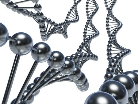 Dna chains on a white back Stock Photo - 6840784