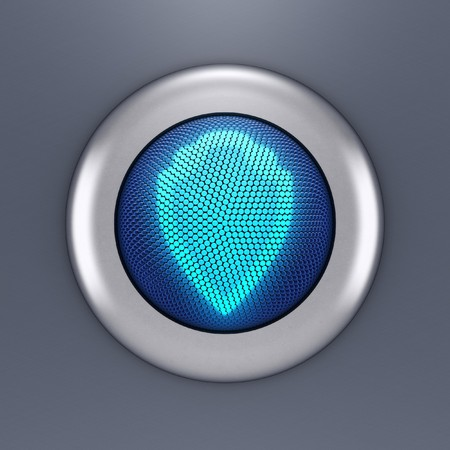 Protection button concept (3d render) Stock Photo - 7163219