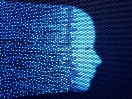 Digital human face (3d render)