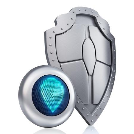 Shield digital concept  Stock Photo