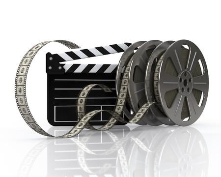 Vintage film reels and film state