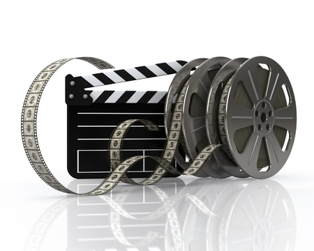 film reel: Vintage film reels and film state