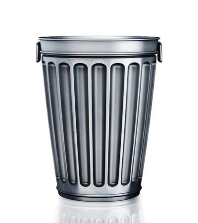 canecas de basura: Una vac�a la Papelera (render 3d)