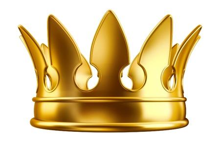koninklijke kroon: Gouden kroon  Stockfoto