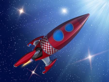 space shuttle: Rocket in space