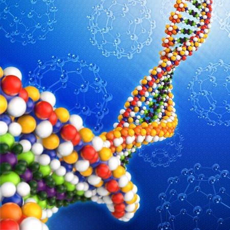human cell: DNA analysis concept background