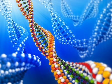 guanine: DNA analysis concept background