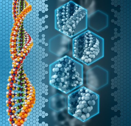 adenine: DNA analysis concept background