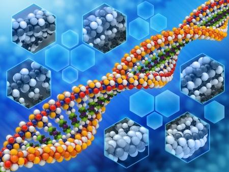 genetica: Analisi del DNA concetto di fondo Archivio Fotografico